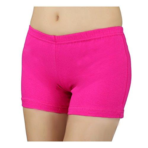 Damen Shorts Hotpants Kurze Hose Sport Shorts Baumwolle Sommershorts Fitness Shorts Bunte, Farbe: Pink, Größe: 38-40