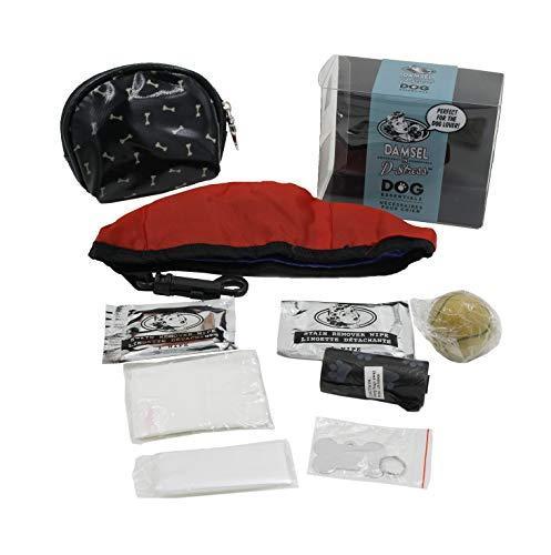 Damsel In D-Stress - Hunde-Essentials-Tasche/Notfall-Kit zum Gehen für Haustiere (Knochen) - Gehen Notfall-kit