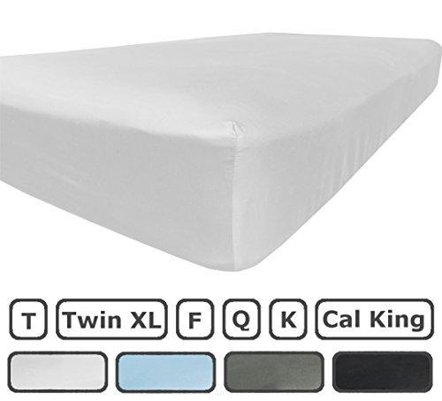 König Tief Spannbetttuch (American Nur gebürstetes Mikrofaser-Spannbetttuch (mittlere Tasche) König Weiß)