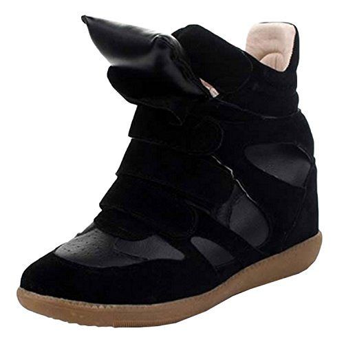 Azbro Paneled Wedge Sneakers Black
