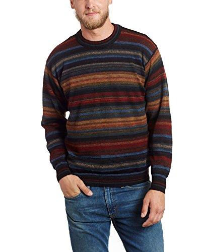 Herren - 100% echtes Alpaka - -Pullover mit rundem Halsausschnitt'Chiminea' - M