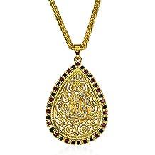 JAGETRADE Collar con Colgante de Diamante de Imitación para Mujer árabe y Musulmana, Regalo Exquisito