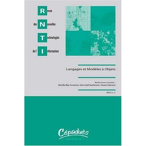 Revue des Nouvelles Technologies de l'Information Langages et Modeles a Objets 2008