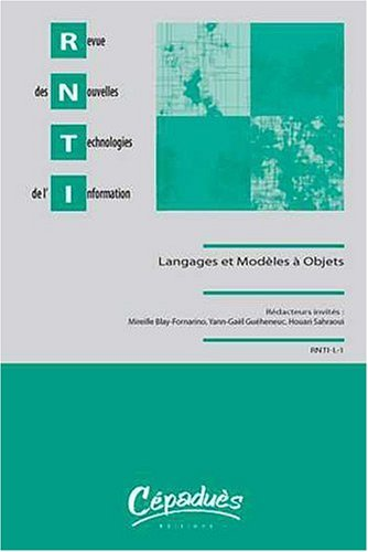 Revue des Nouvelles Technologies de l'Information Langages et Modeles a Objets 2008 par Collectif
