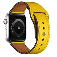 LCAPLE Leather Replacement Band for Apple Watch 44-42 mm All Series