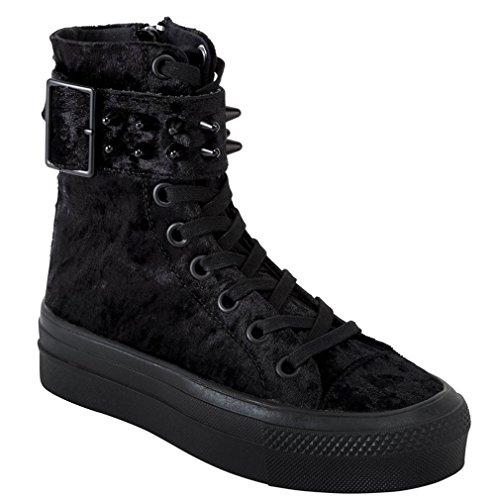 Killstar - Zapatillas de Material Sintético para Mujer Negro Negro One Size, Color Negro, Talla 38 EU