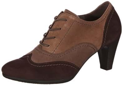 Gabor Shoes Gabor 75.390.18, Damen Schnürhalbschuhe, Mehrfarbig (mocca/graphit/kies), EU 35.5 (UK 3) (US 5.5)