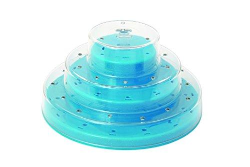 Silikomart 25.939.18.0065 Pops Stand Présentoir pour Cake Pops Multicouche Blue Clair Métallique