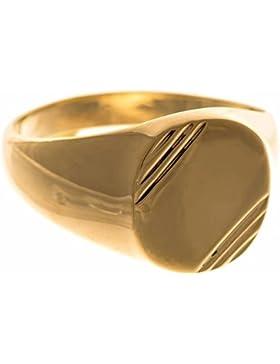ISADY - Eternal Gold - Herren Ring Damen Ring - 18 Karat (750) Gelbgold platiert