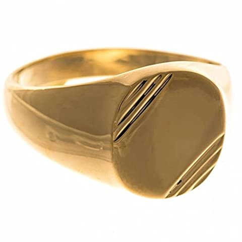 ISADY - Eternal Gold - Bague Mixte Homme Femme - Chevalière - Plaqué Or 750/000 (18 carats) - Taille 68