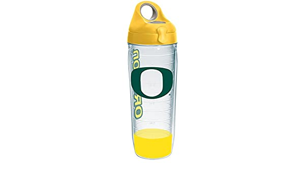 Tervis 1231880 Oregon Ducks Insulated Tumbler with Wrap and Yellow Lid 24oz Water Bottle Clear