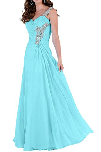 Toscane mariée design glamour une épaule abendkleider promkleider forme de boule longueur :  party Bleu - Bleu