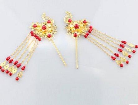 Jiang der kostüm - klassische chinesische braut kopfschmuck quasten Oder blumen Bob cheongsam kleid drachen (Cheongsam Kostüm)