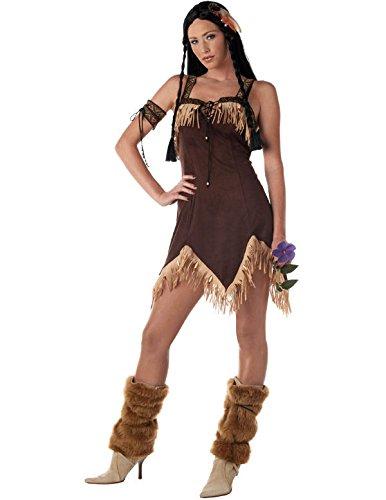 Sexy Indianer Prinzessin Pocahontas Kostüm Karneval Fasching Verkleidung ()