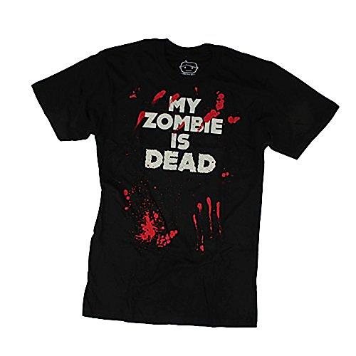 Goodie Two Sleeves Men-Shirt MY ZOMBIE'S DEAD black Black