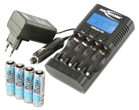 ANSMANN Powerline 4 Pro Chargeur pour 1 à 4 piles