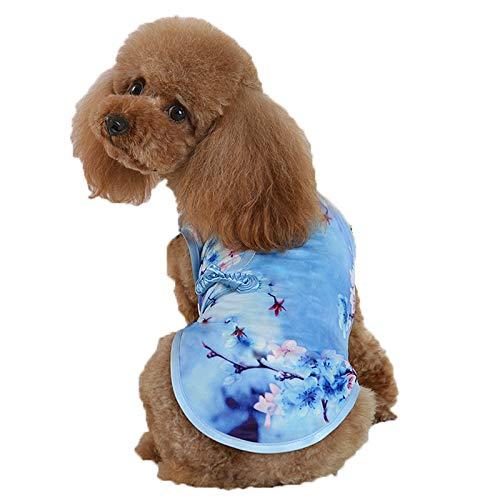 LXLLXL Haustier Hund Kleidung Teddy Frühling Und Herbst Dünne Cheong Sommer Kostüm Prinzessin Han Kostüm Kleiner Hund Teddy Bomi