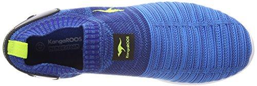KangaROOS W-600 Kids, Sneaker Unisex – Adulto Blau (Navy/Lime)