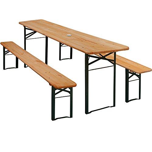 Bierzeltgarnitur Gartenmöbel-Set | Klappbar | schnell aufgebaut | 2x Bierbänke 1x Biertisch | Festzeltgarnitur Biertisch Sitzgarnitur [ Modellauswahl ]