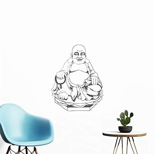 Wandtattoo Wohnzimmer Religiöses Buddha-Statuen-Wohnzimmer für lachende Buddha-Abziehbilder (Feuerwehrmann-statuen)