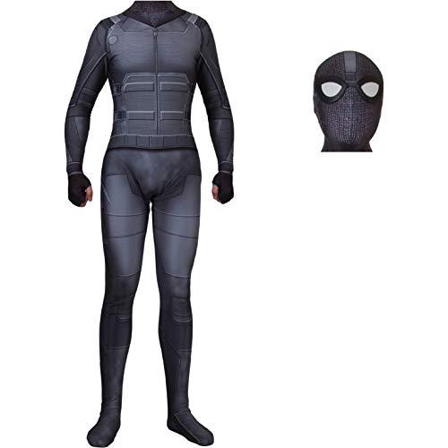 QWEASZER Spider-Man: Far from Home, Spandexoverall Shadow Sneak Battle Kostüm Kostüm Zentai Onesie Kleidung Halloween Cosplay Party Bodysuit Movie - Der Shadow Mann Kostüm