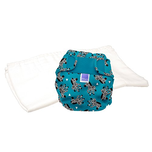 Bambino Mio, miosoft pannolino lavabile in due pezzi (kit di prova), zebra, taglia 2 (9 kg+)