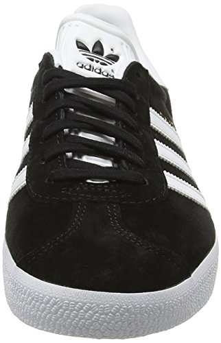 adidas  Gazelle, Sneakers Basses mixte adulte Noir (Core Black/White/Gold Metallic)