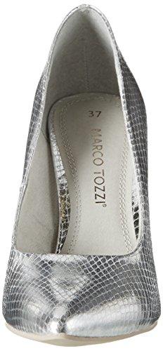 Marco Tozzi22415 - Scarpe con Tacco Donna Argento (Silver Met.str 965)