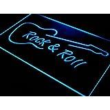 Cartel Luminoso ADV PRO i303-b Rock and Roll Guitar Music NEW Neon Light Sign