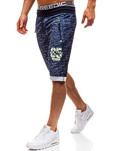BOLF Herren Shorts Kurzhose Sporthose Fitness Jogginghose Bermudas Sport Style RED Fireball HL8569 Dunkelblau XL [6F6]
