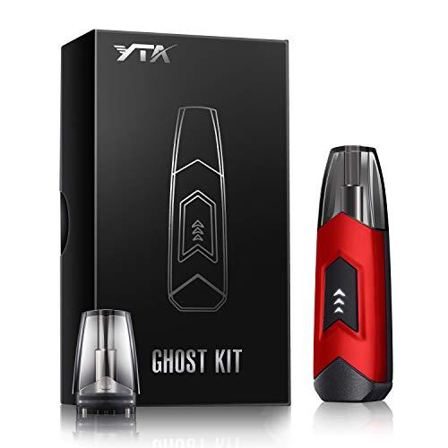 Mini Cigarette électronique,YTA Nouvelle e-cigarette Kit Complet avec 2 Atomiseurs Offert,Design Anti-Fuite,Saveur plus pur,Sans nicotine ni tabac. (Rouge)