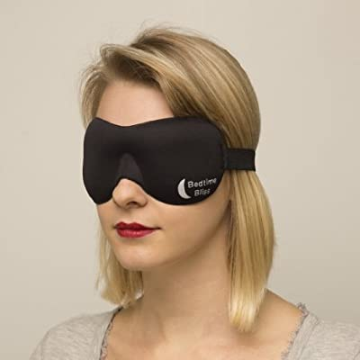 Eye Mask / Sleep Mask - Sleeping Masks for Men & Women * MONEY BACK GUARANTEE * Buy 3 & Get Free UK Delivery Better than Silk - Our Bedtime Bliss Luxury Patented Contoured & Comfortable Sleep Mask & Ear Plug Set is the Best Blackout Eyemask it will Block