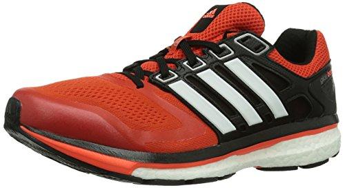 adidas Supernova Glide Boost 6, Herren Laufschuhe, Orange (Dark Orange/Core White/Solar Red), 42 EU (8 )