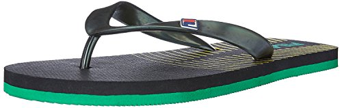 Fila Men's Summer Lite Black, Yellow and Green Flip-Flop - 8 UK/India (42 EU)  available at amazon for Rs.174