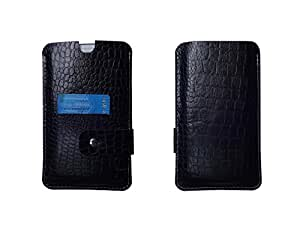 ATV Genuine Leather BLACK Designer Pouch Case Cover For LG G3 S Dual