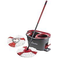 Vileda Easy Wring And Clean Turbo Set straccio in Microfibra e Secchio, Microfibra, Red, 29.6 x 48.6 x 29.3 cm