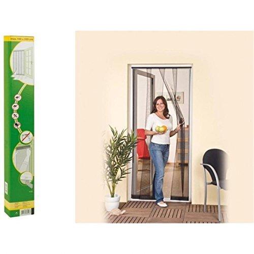 Cortina de puerta mosquitera para puerta de discos de hasta 120 x 240 cm Antracita