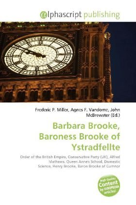 Barbara Brooke, Baroness Brooke of Ystradfellte