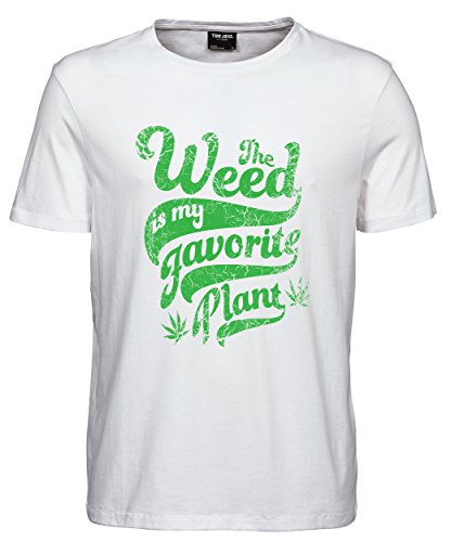 makato Herren T-Shirt Luxury Tee Weed White