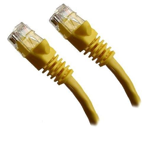 Giallo di rete Ethernet, cavo Patch, modellata aletta antigroviglio, 3048