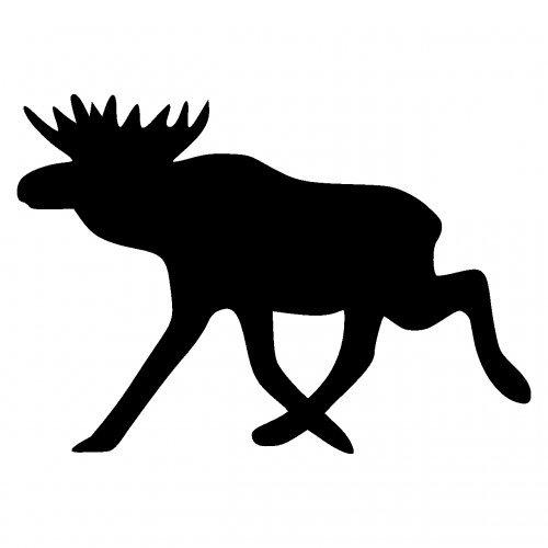 Elch Aufkleber Elchaufkleber (Motiv 2) in 6 Größen und 25 Farben (30x21cm schwarz)