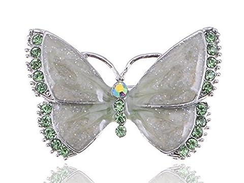 Österreichischen Kristall Strass Synthetic Peridot Emaille Schmetterling Mode Schmuck Brosche
