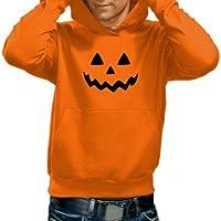 Halloween Felpa per bambini e adulti, Ragazza Ragazzi, - Orange-Herren, L