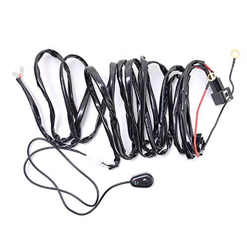leoboone Universal-12V 40A Auto-Nebel-Licht-Kabelbaum Kit Loom für LED-Arbeits-treibende Licht-Bar mit Sicherungs- und Relaisschaltern