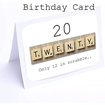 Birthday card scrabble 20th birthday cards amazon birthday card scrabble 20th birthday cards bookmarktalkfo Choice Image