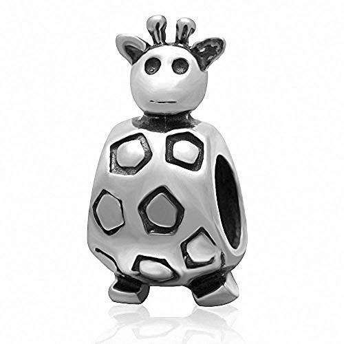 Charm-Anhänger Giraffe Sterling-Silber 925 für Pandora-Charm-Armbänder a