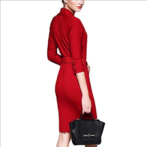 tempérament robe mince robe sexy - rouge red