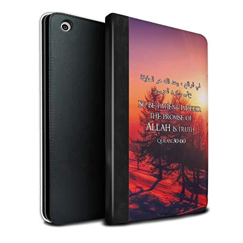 Stuff4® PU-Leder Hülle/Case/Brieftasche für Apple iPad Mini 1/2/3 Tablet/Verheißung Allah Ist Wahrheit Muster/Islam Koran Vers Kollektion