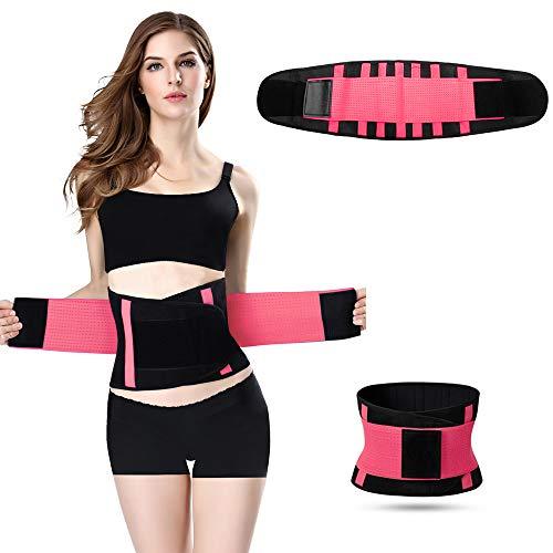 Jueachy Taillen-Trainer-Gürtel für Frauen, atmungsaktiver Schweißgürtel Taille Cincher Trimmer Body Shaper Gürtel Fat Burn Belly Slimming Band für Gewichtsabnahme Fitness Workout