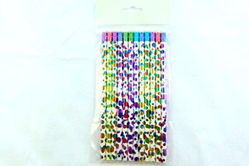 Confezione da 12 pezzi matite HB - Colourful Idem Dots